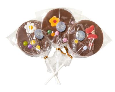 Three Chocolate Lollipops (Various Designs 35g)