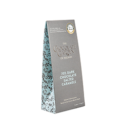 dark salted caramel pouch box - side view