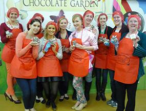 Hen Party Chocolate Workshop In Chocolate Garden