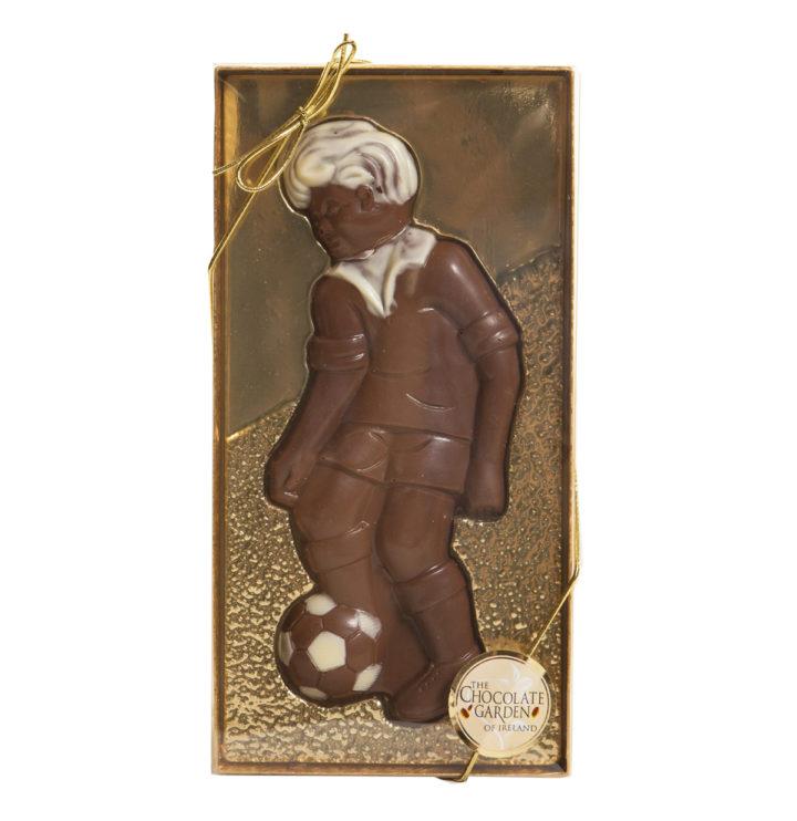 Footballer made with handmade chocolate 90g