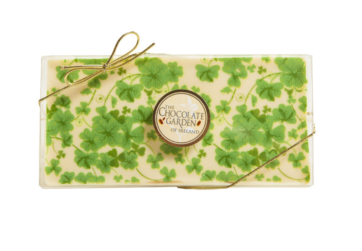 Decorated Milk Chocolate Bars - Green Leaves