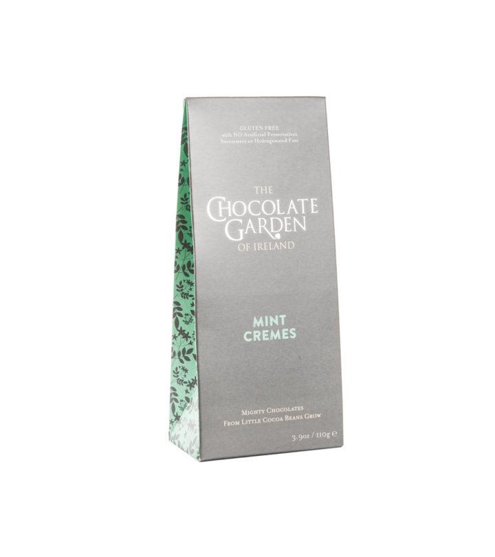 Handmade Chocolate Mint Creme Pouch Box In Chocolate Garden