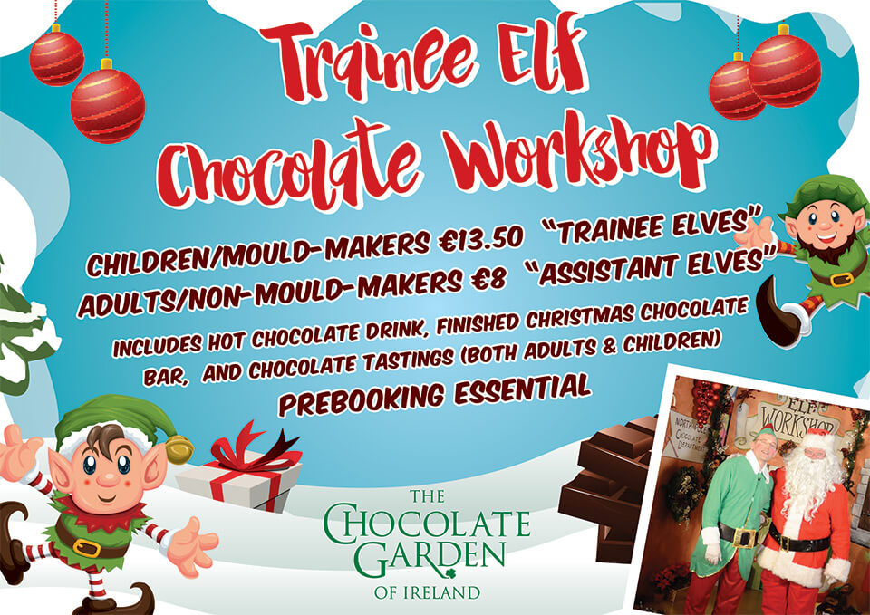 Chocolate Garden Elf Workshop - Make chocolate with the Elves