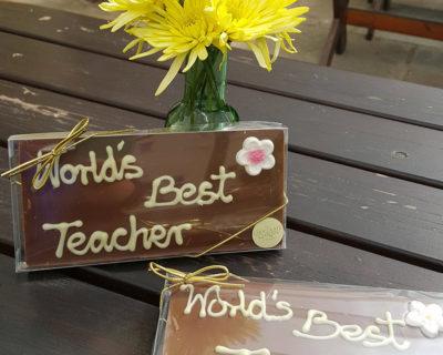 """Milk Chocolate """"Worlds Best Teacher"""" Bar"""