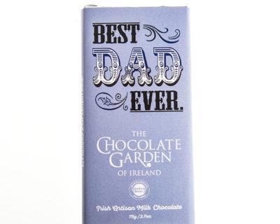 """""""World's Best Dad"""" 75g Milk Chocolate Bar"""