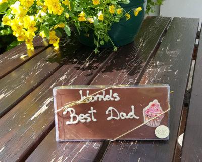 """Milk Chocolate """"World's Best Dad"""" 100g Bar"""