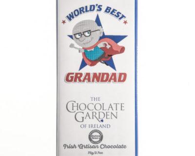 """""""World's Best Grandad"""" 75g Milk Chocolate"""