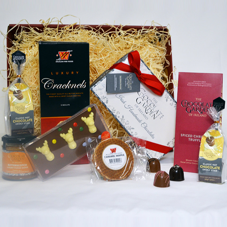 Christmas Hamper with Artisan Chocolates, Biscuits and Treats