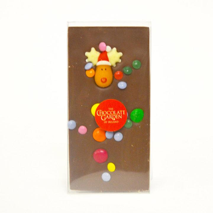 Milk Chocolate Bar with Rudolph Decoration 100g