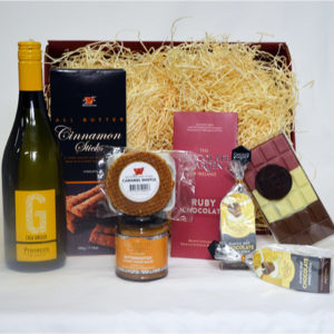 Gift Basket with Prosecco, Artisan Ruby chocolates, Luxury Biscuits & More