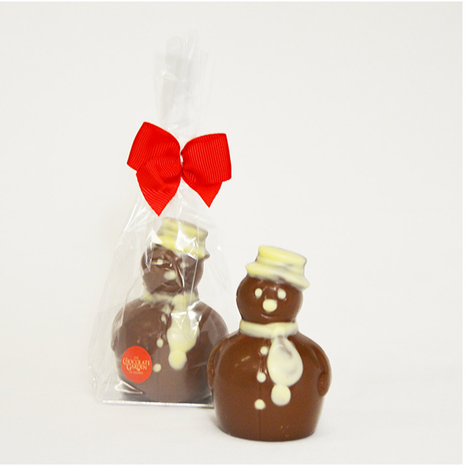 Handmade Milk Chocolate Snowman 100g