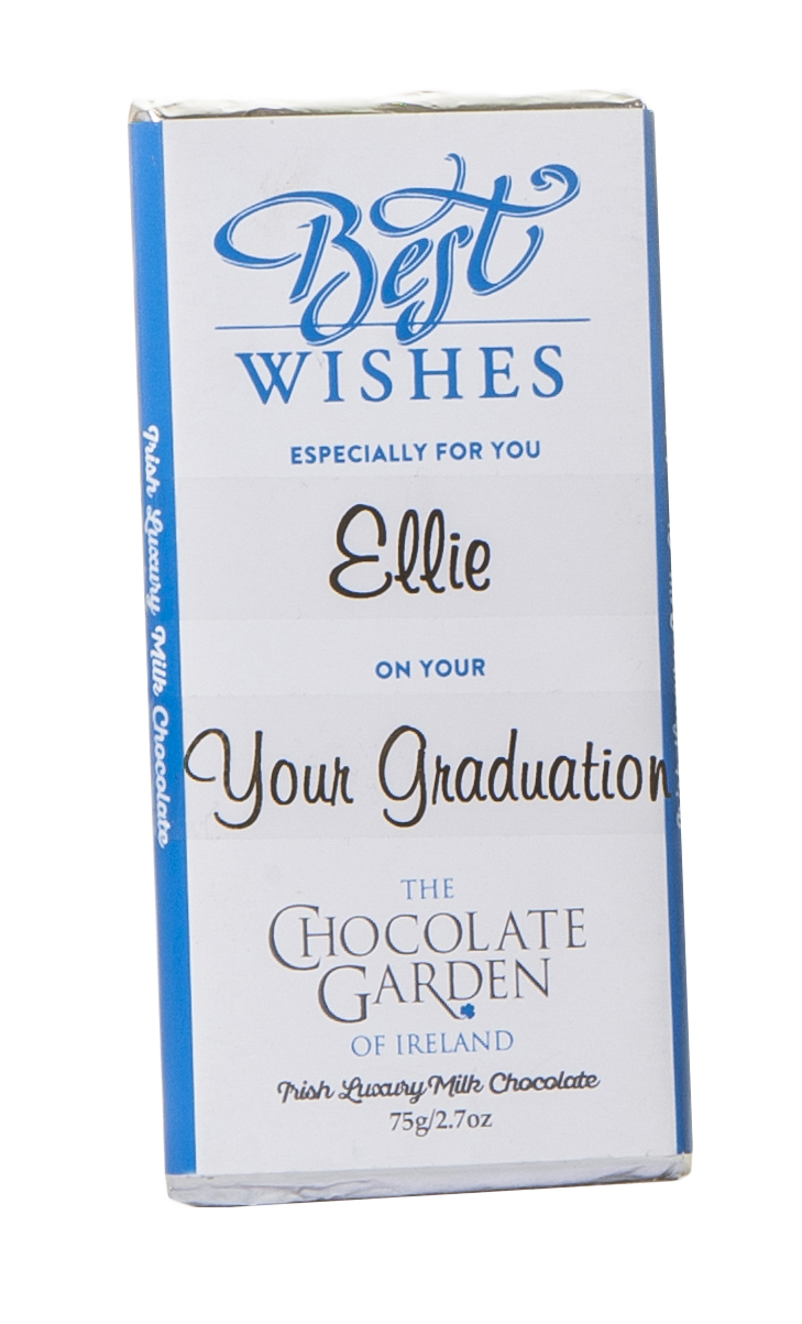Best Wishes personalised 75g Milk Chocolate Bar 600x