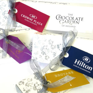 hotel 65g sel custom branded swing tags
