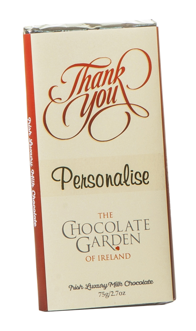 thank you personalised 75g Milk Chocolate Bar 600x