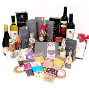 Super Big Hamper with Wine, Handmade Chocolates, Biscuits & Treats
