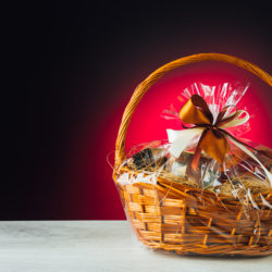 Gift Basket with Glowing Background